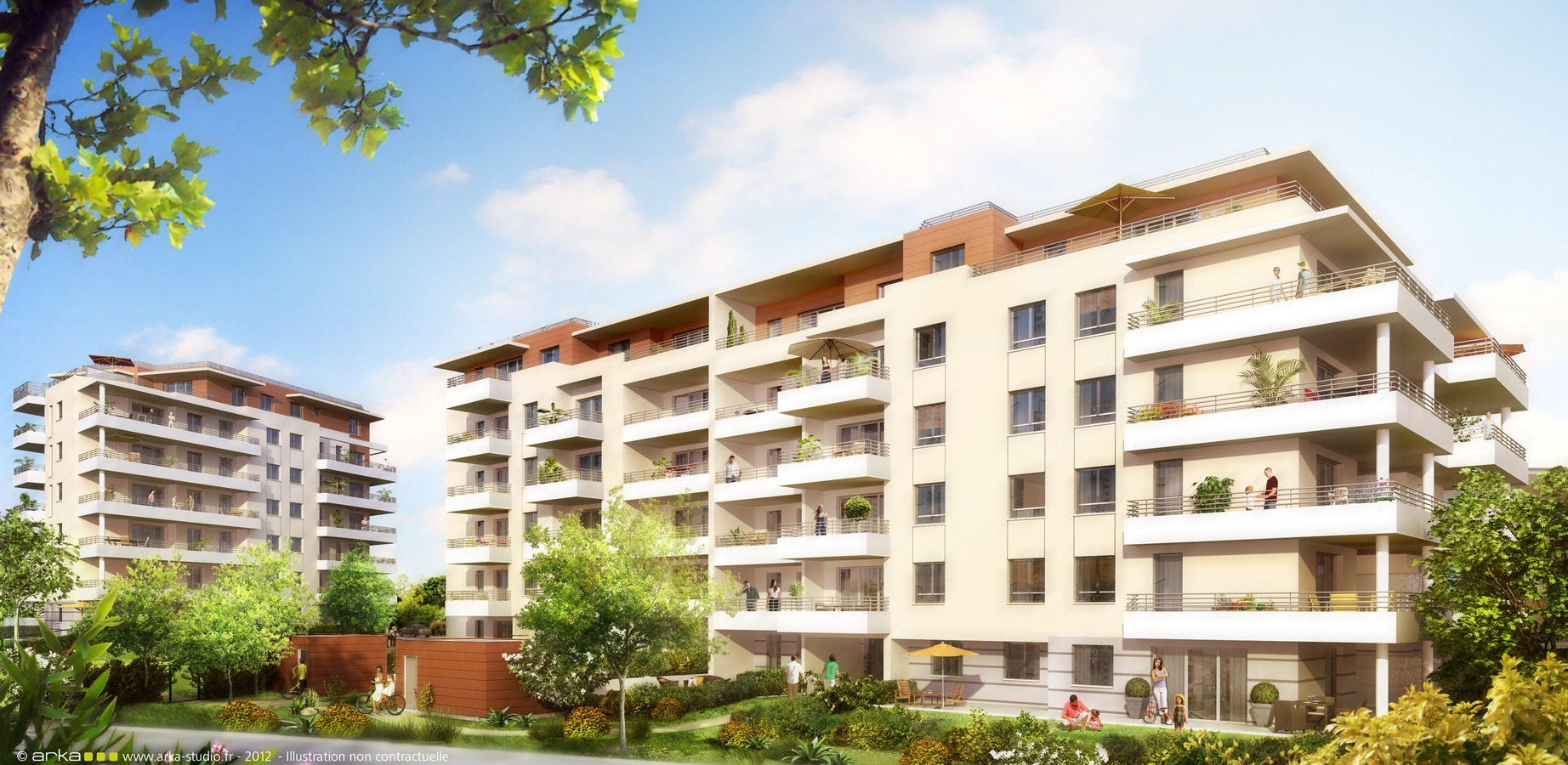 Les terrasses azur 50 logements neufs voiron is re for Acheter logement neuf